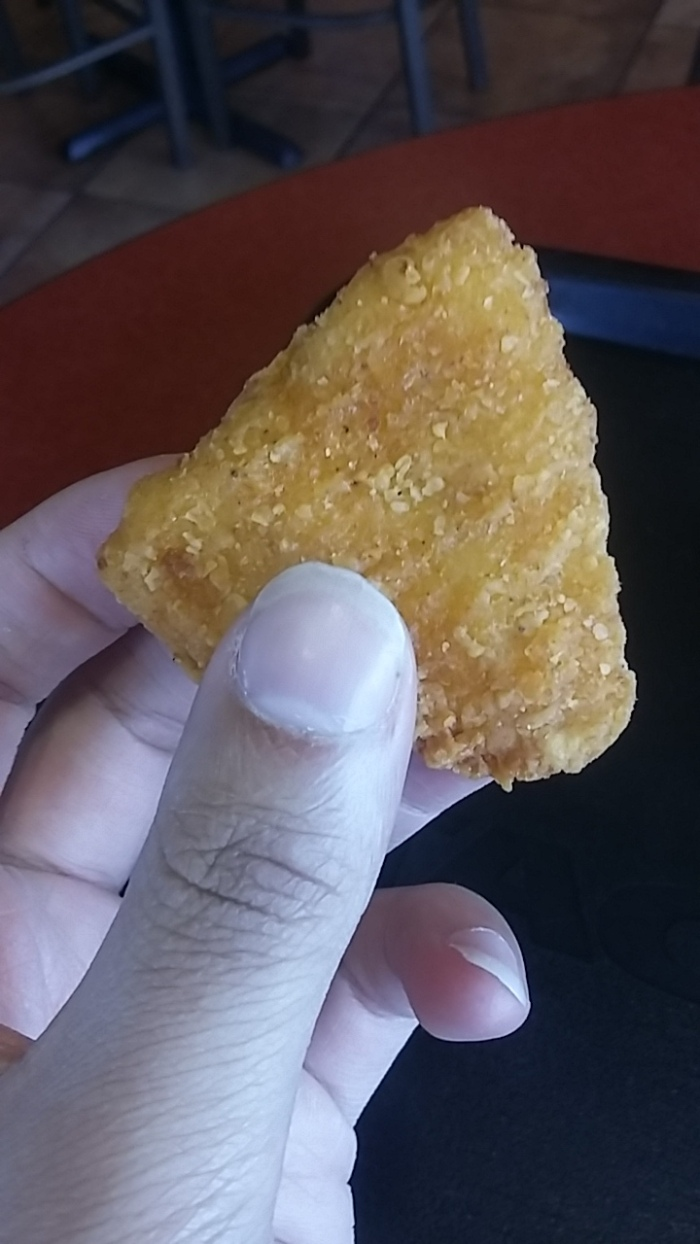 Top-down look at Naked Chicken Chip