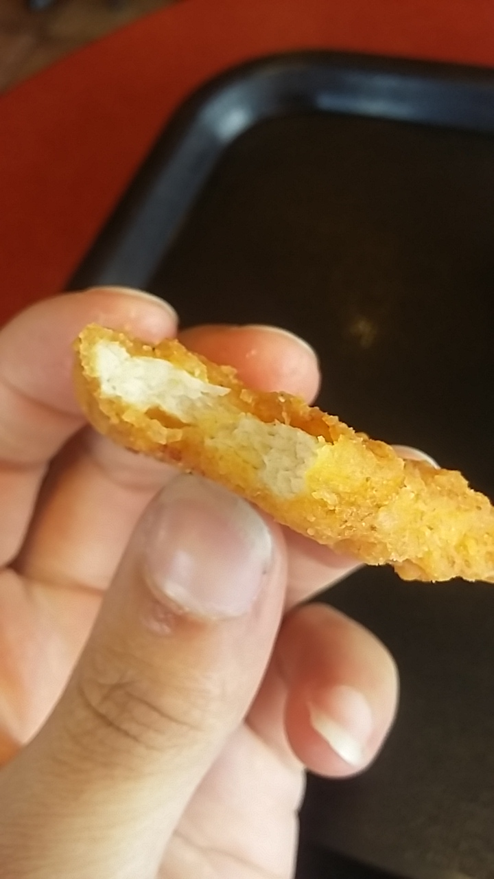 Side top view of Naked Chicken Chip