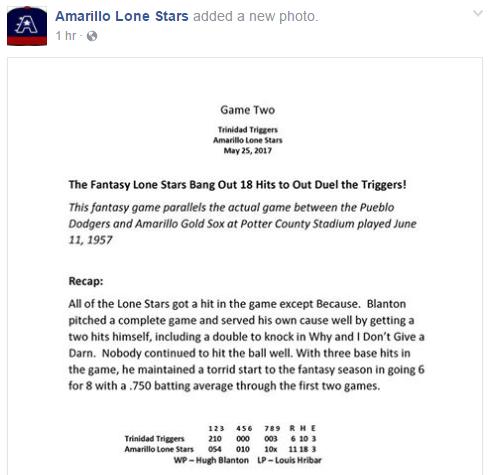 Lone Stars Game 2